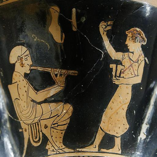 Flûtiste et danseuse