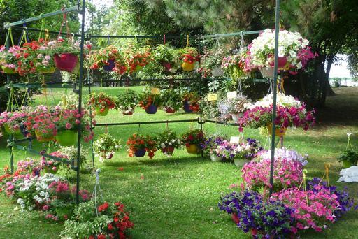 Foire aux fleurs au Parc Mauresque à Arcachon