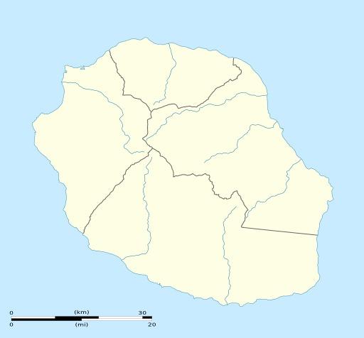 Fond de carte vierge de l'île de La Réunion