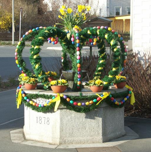 Fontaine de Pâques en Bavière