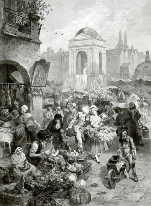 Fontaine des Innocents en 1878