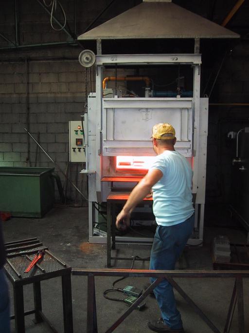 Forge industrielle en Bourgogne