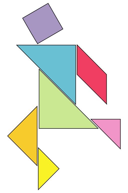 Forme humaine en tangram