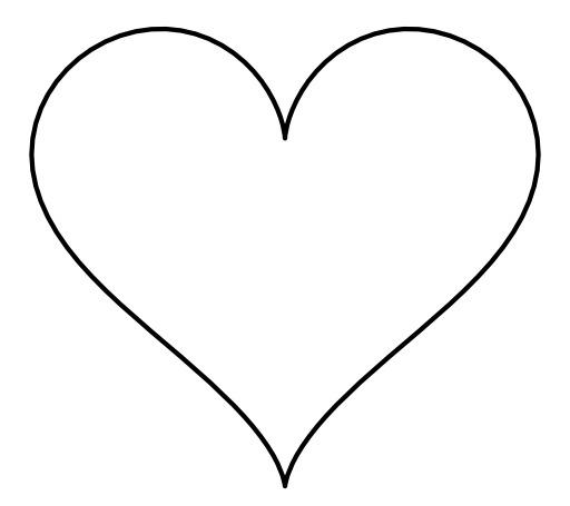 Formule algébrique d'un coeur