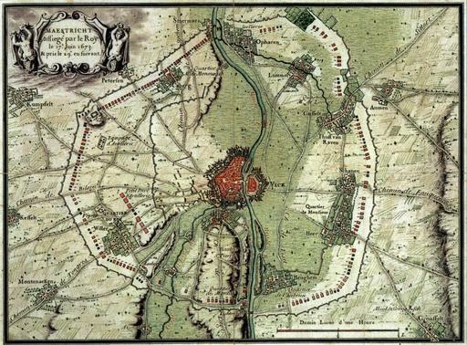 Fortifications autour de Maastricht en 1673