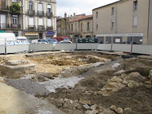 Fouilles archéologiques à Bordeaux en 2011