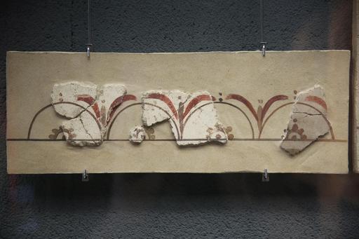 Fragment de peinture murale gallo-romaine