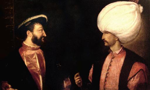 Francois I et le sultan Soliman autour de 1530
