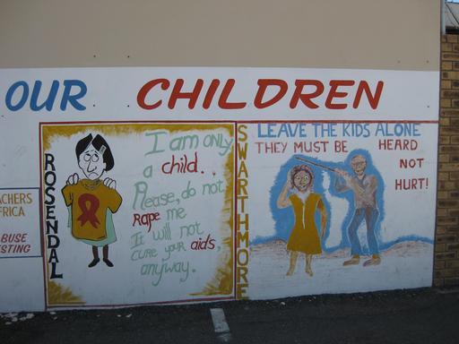 Fresque contre le sida en Afrique du sud