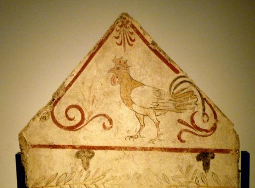 Fresque du coq de Paestum