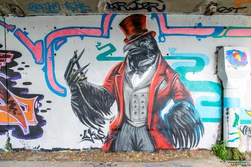 Fresque du corbeau de LKS1
