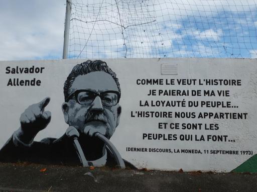 Fresque Salvador Allende à Pessac - 1