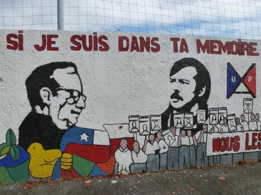 Fresque Salvador Allende à Pessac - 4