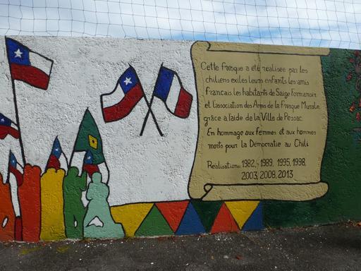 Fresque Savador Allende à Pessac - 6