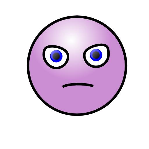 Frimousse mauve en colère