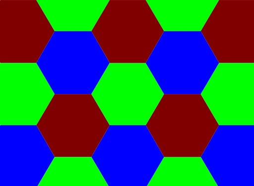 Frise d'hexagones