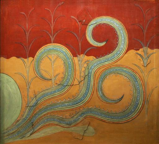Frise de la pieuvre à Cnossos