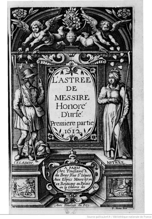 Fronstispice de l'Astrée en 1612