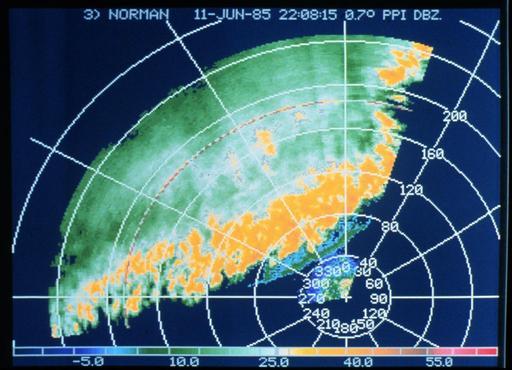 Front d'orages : vue panoramique à angle d'élévation constant