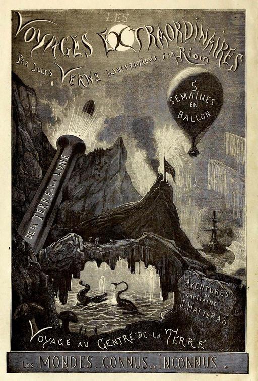 Frontispice des Voyages Extraordinaires de Jules Verne