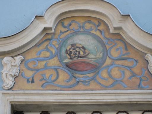 Fronton à l'escargot à Gdansk