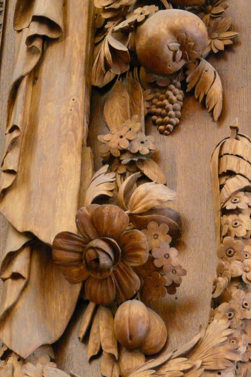 Fruits et fleurs en bois