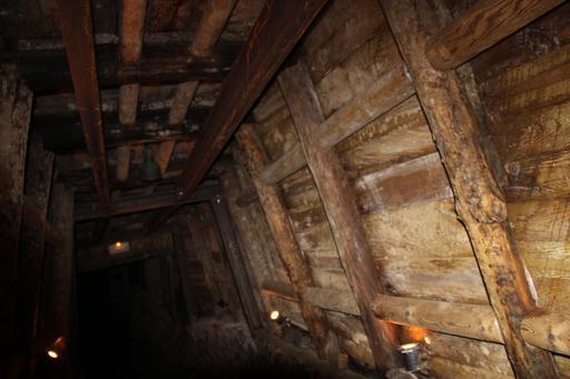 Galerie de mine d'extraction de manganèse