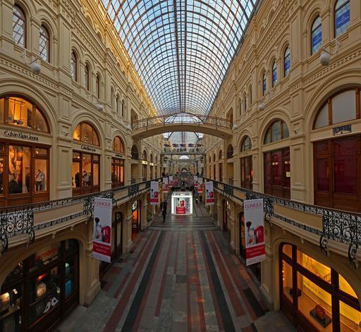 Galerie marchande d'un grand magasin à Moscou