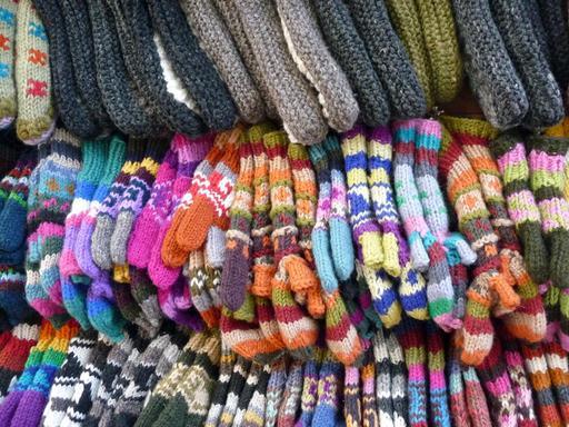Gants de laine indiens