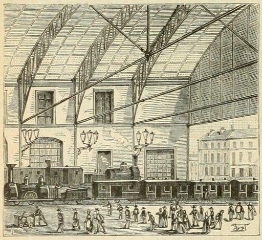 Gare de chemin de fer en 1877
