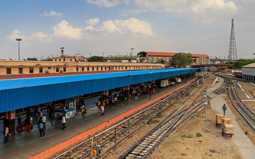 Gare de Jaipur en Inde
