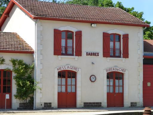 Gare de Sabres dans les Landes