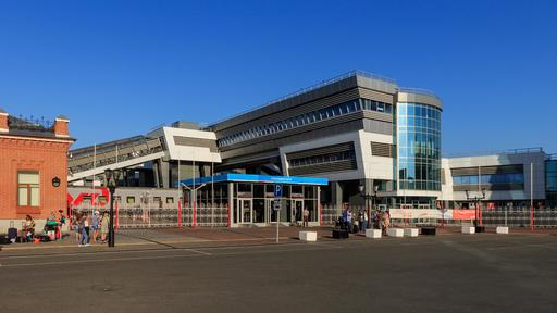 Gare moderne de Kazan en Russie