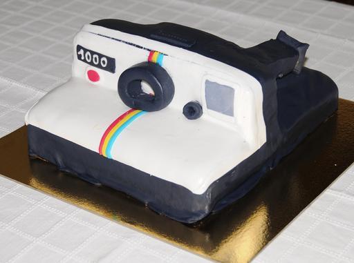 Gâteau en forme d'appareil photo