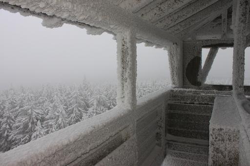 Gel et brouillard en Bavière