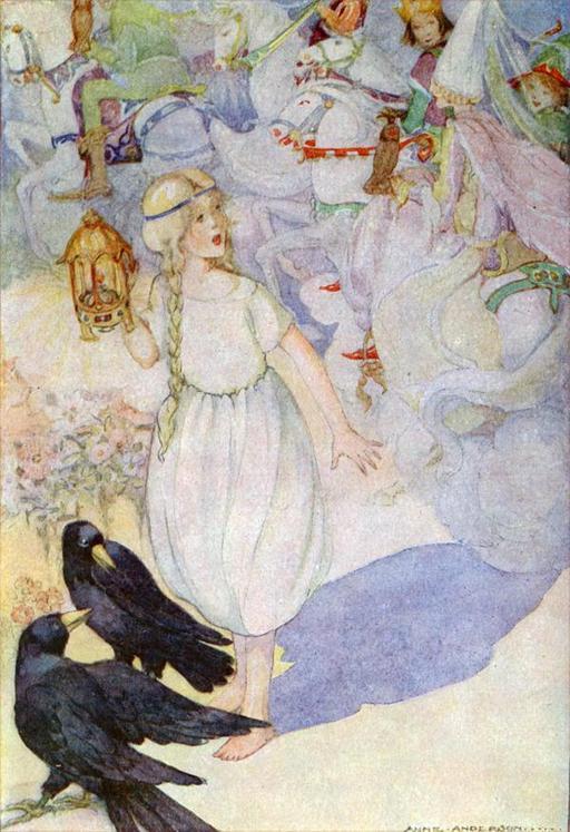 Gerda et les corbeaux