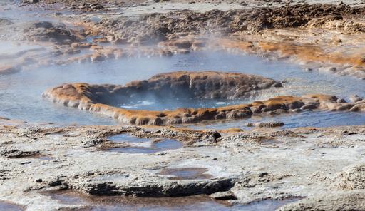 Geyser géothermique en Islande