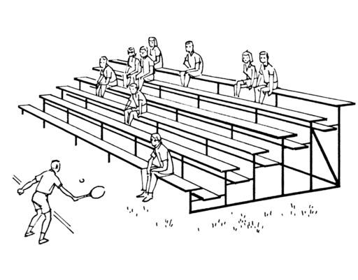 Gradins sportifs