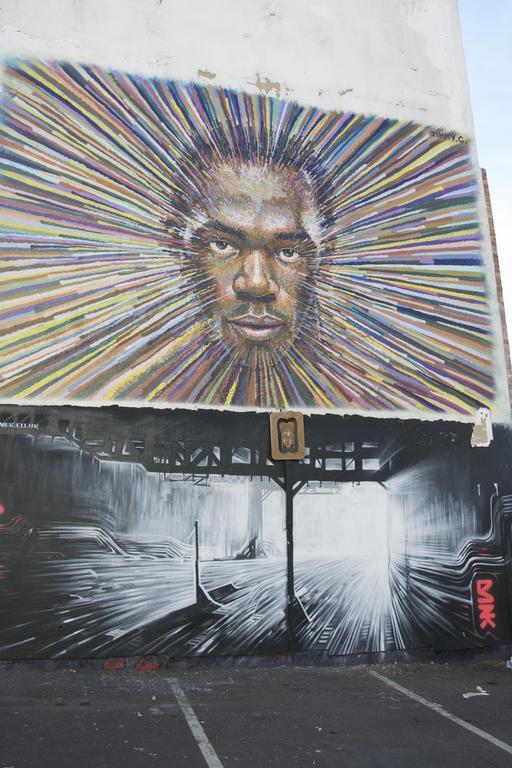 Graffiti d'Usain Bolt à Londres