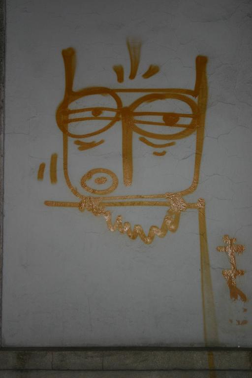 Graffiti de hibou en Pologne