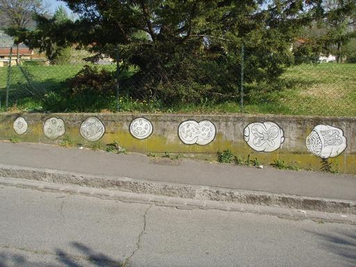 Graffiti des étapes de l'évolution de 5 à 11