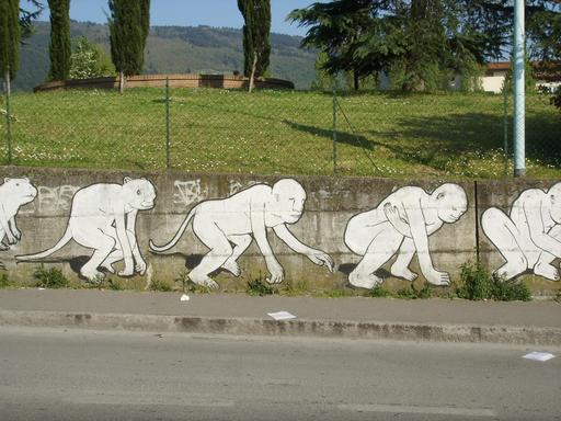 Graffiti des étapes de l'évolution de 23 à 26
