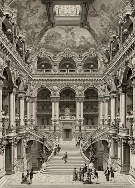 Grand Escalier d'Honneur du Palais Garnier en 1880