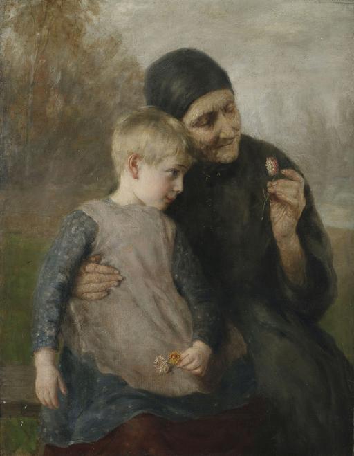 Grand-mère et petite-fille au XIXème siècle