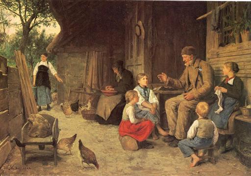 Grand-père raconte une histoire