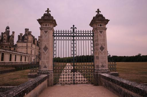 Grille d'entrée du château de Chambord