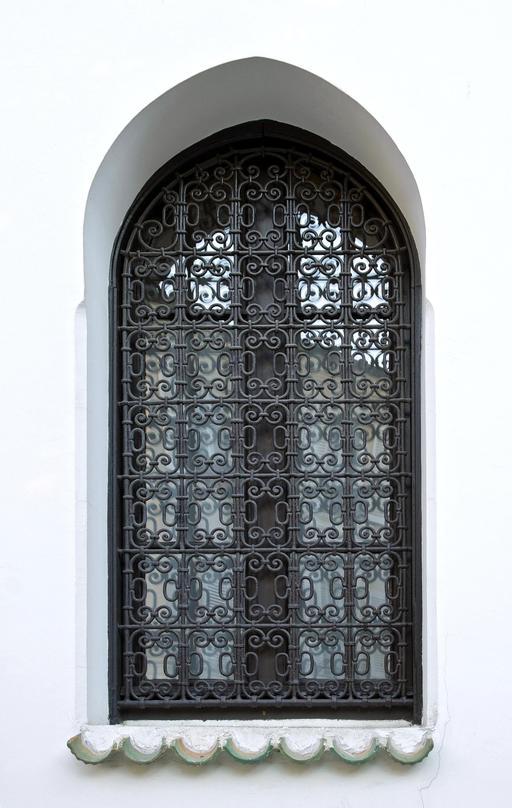 Grille de fenêtre de la Mosquée de Paris