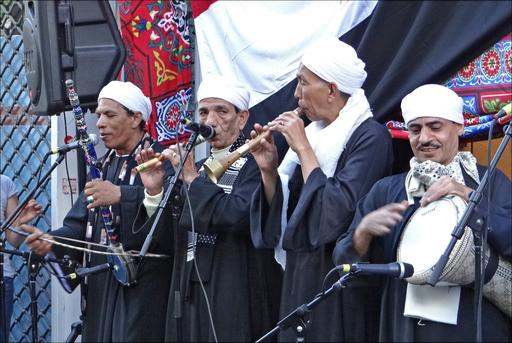 Groupe de musiciens nubiens