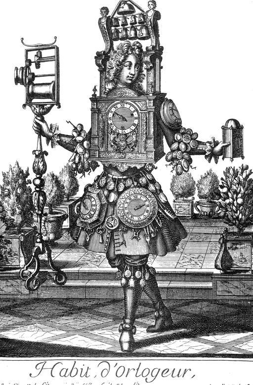 Habit d'horloger au 17ème siècle