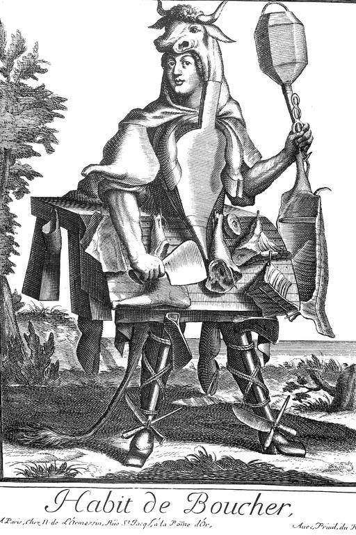 Habit de boucher au 17ème siècle
